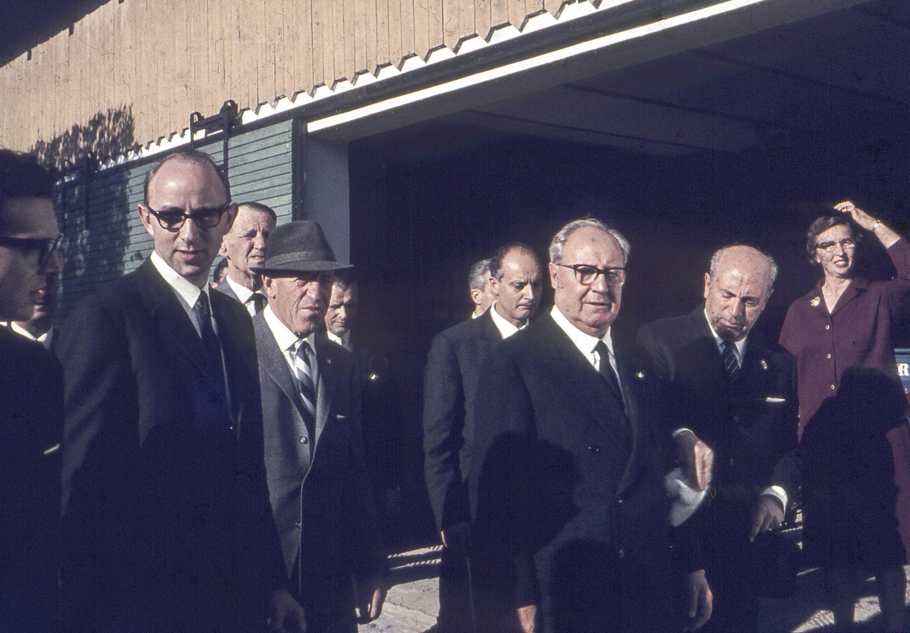 Præsident Giuseppe Saragat med følge. Lystrupvej 31. 1966