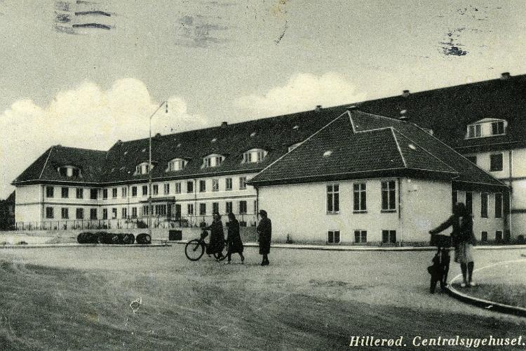 Postkort. Frederiksborg Amts Sygehus ca. 1944