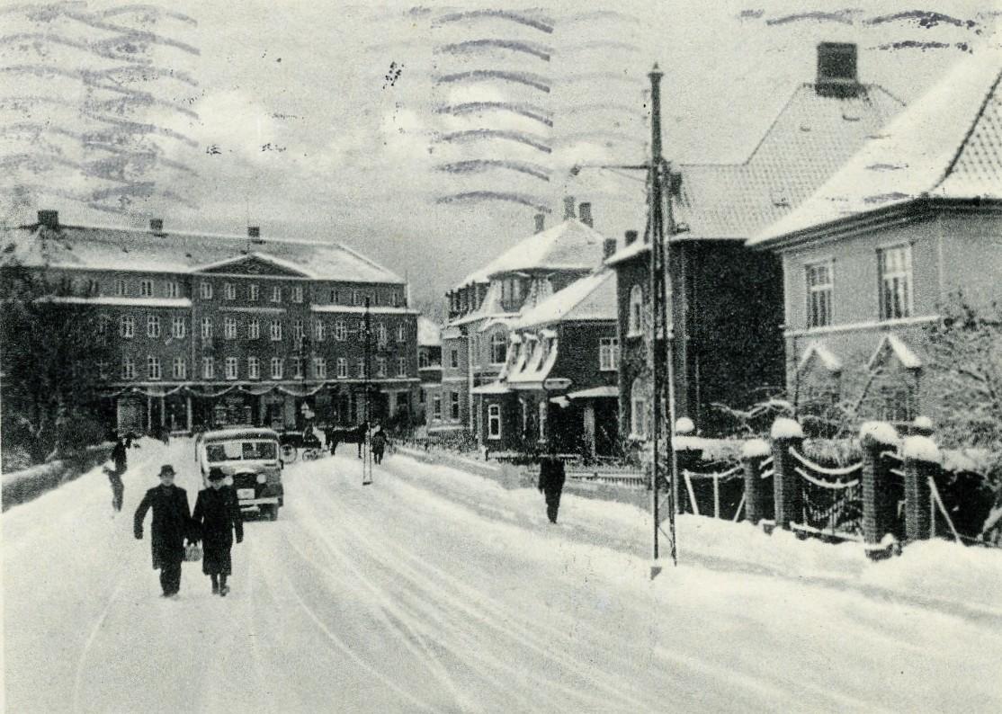 Søndre Jernbanevej med sne, julen 1939