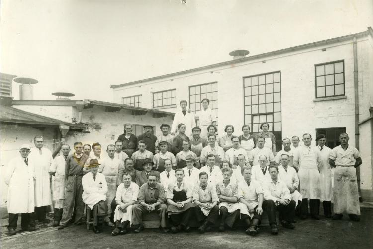 Hillerød Slagteri, medarbejdere, 1945