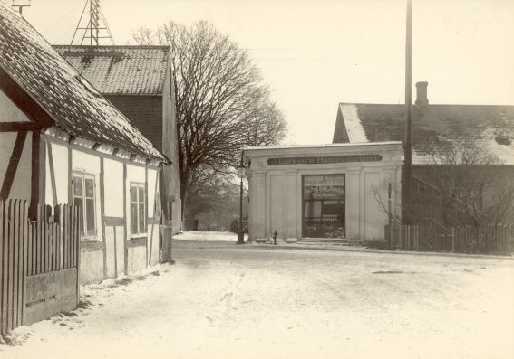 Gasværksvejset mod Hostrupsvej og J.Larsens Handelsgartneri, ca. 1925