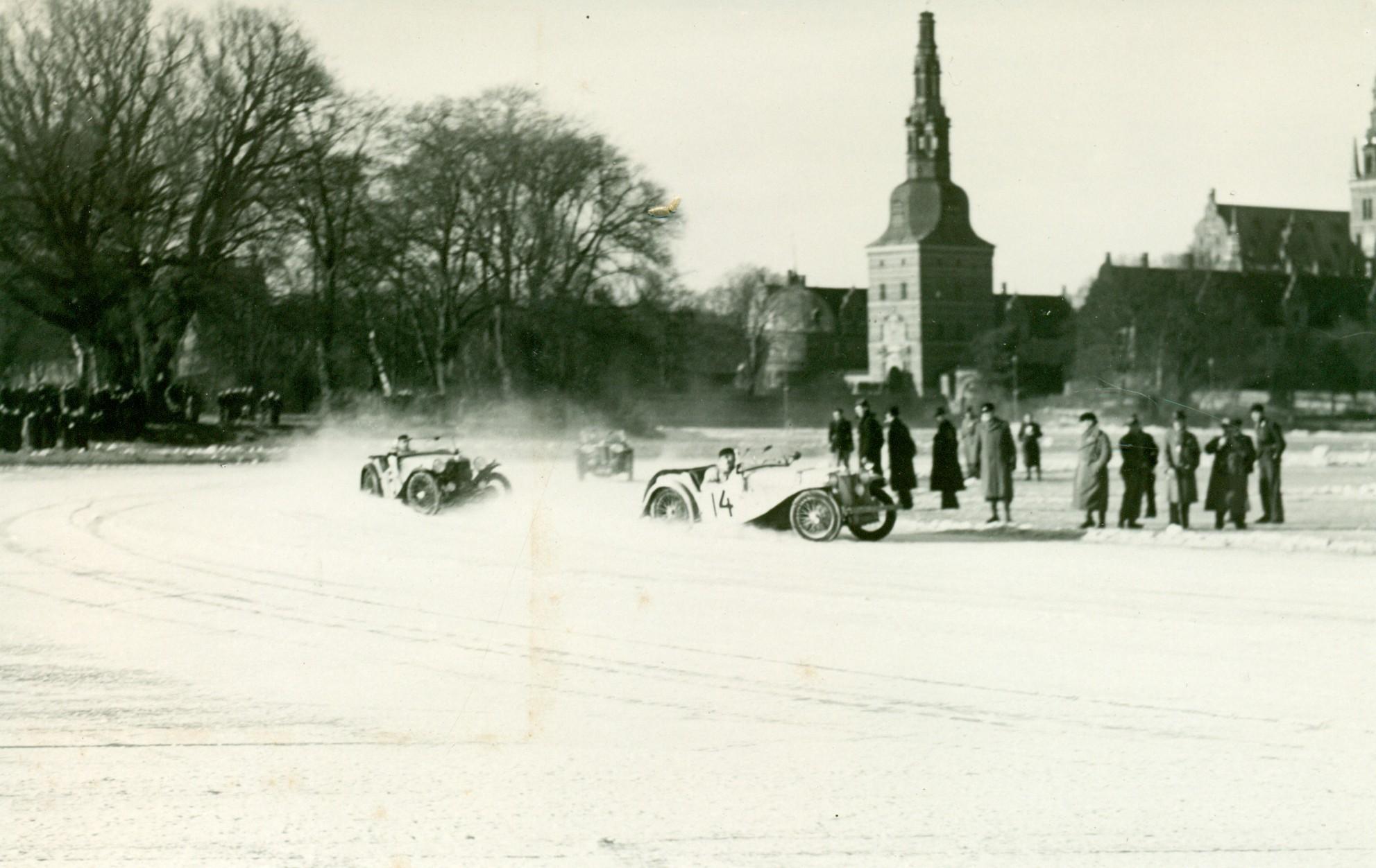 Isbaneløb, Frederiksborg Slotssø, ca. 1930-1940
