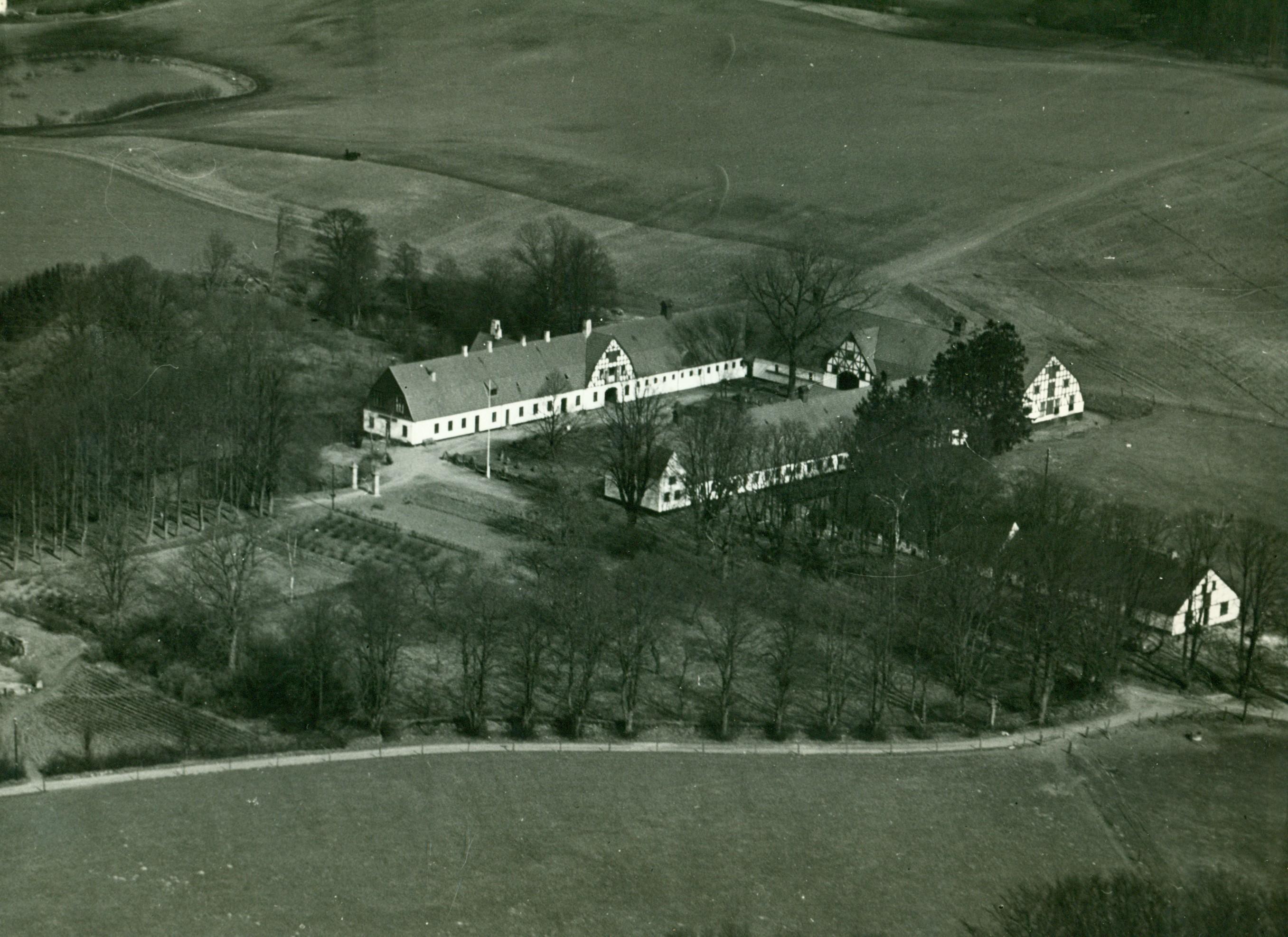 """Luftfoto af """"Sandviggård"""", Dyrehavevej, 1936"""