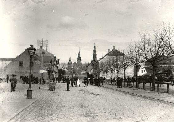 Slangerupgade, hestemarked, 1910