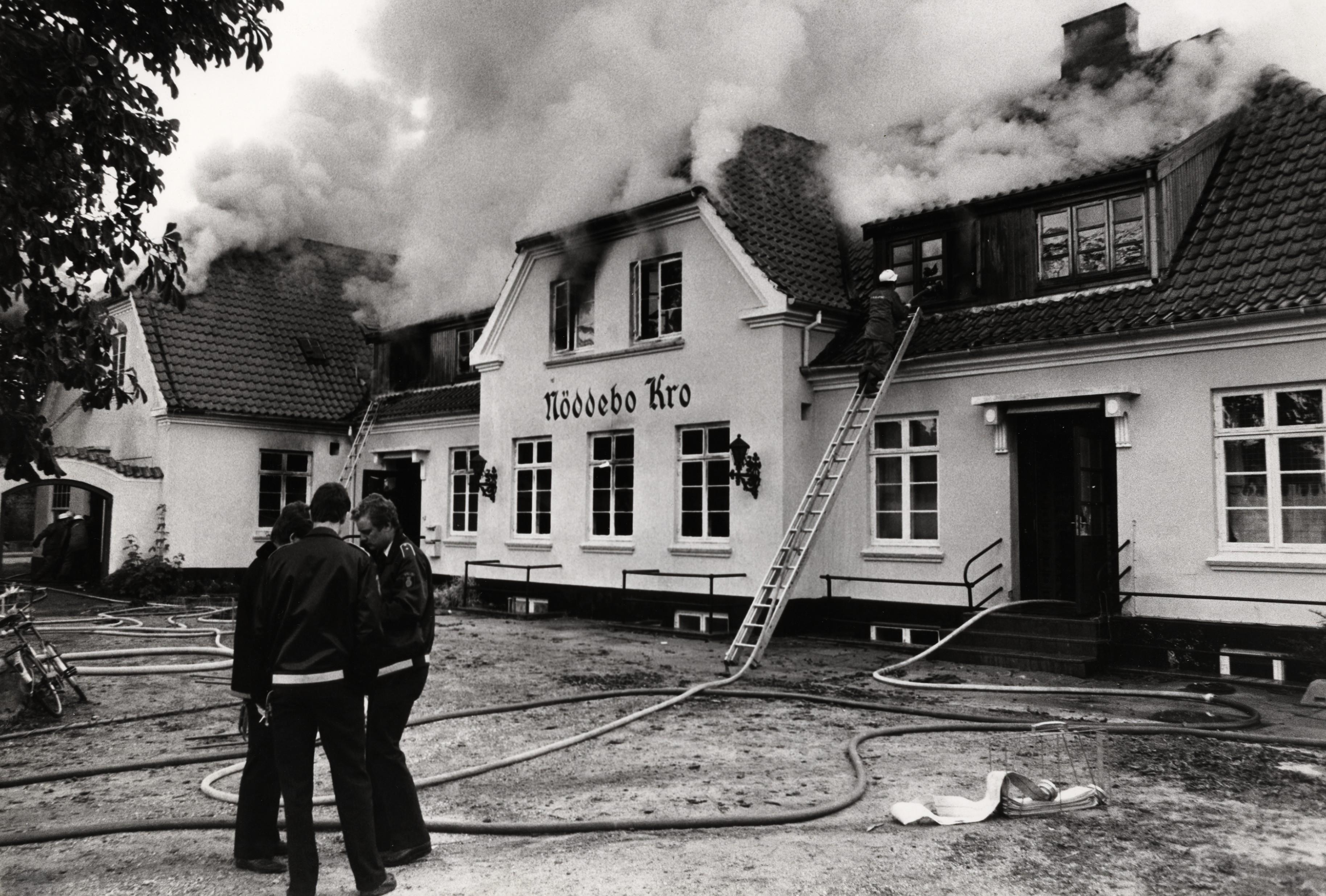 Brand på Nødebo Kro, 1985