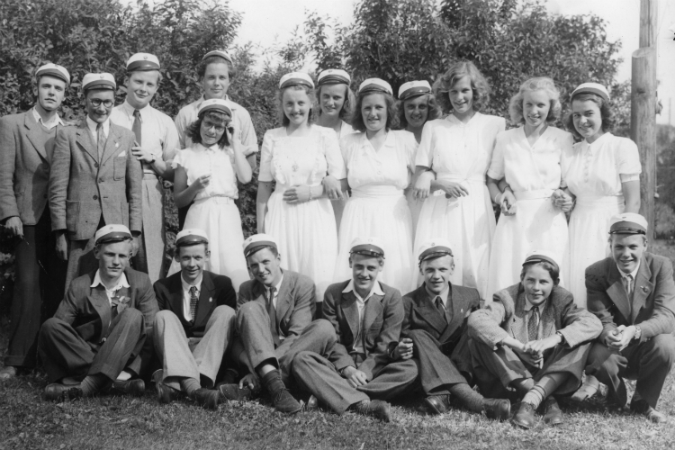 Elever fra 3. real, Frederiksborg Statsskole, 1947