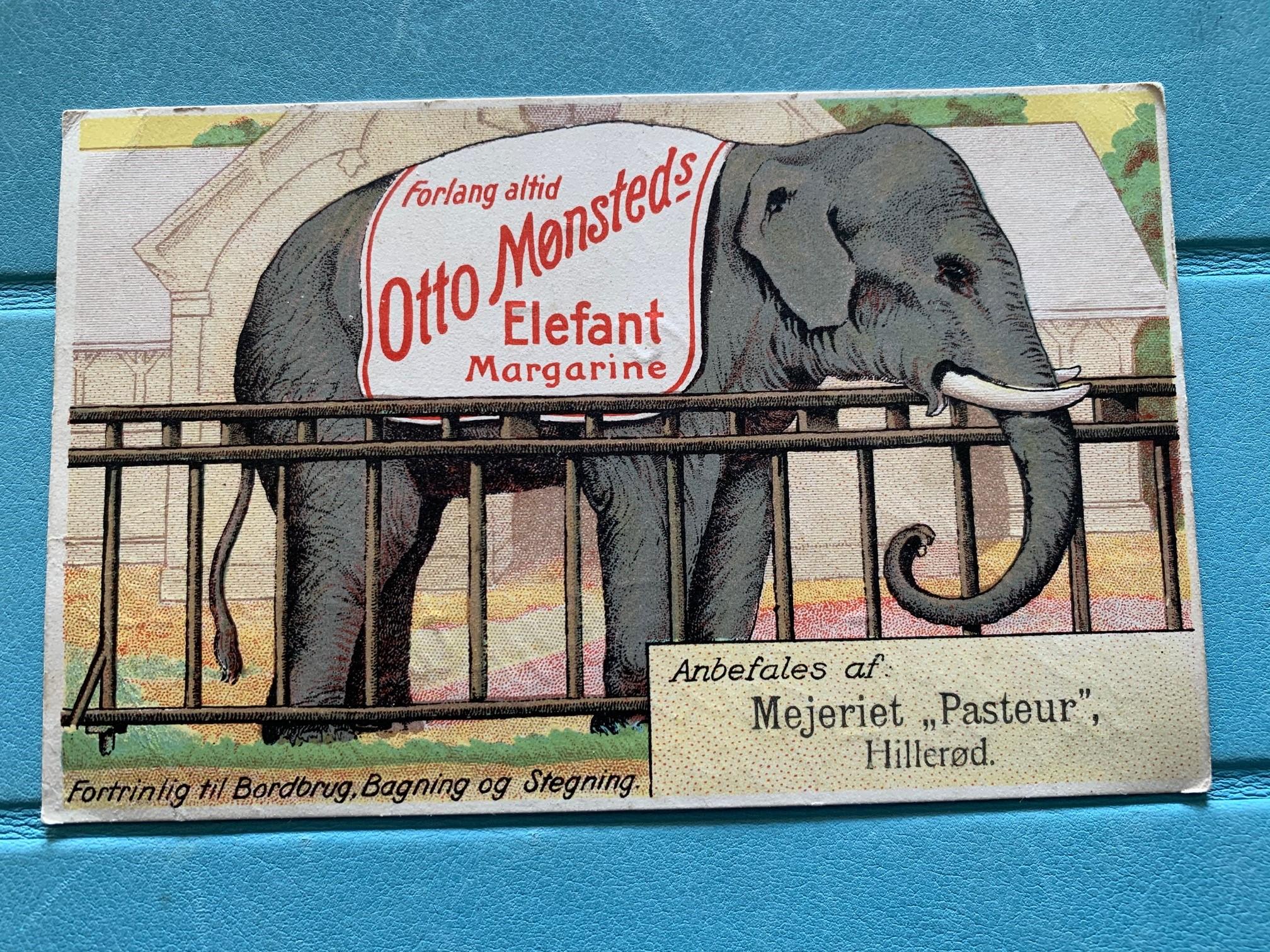 """Reklame fra mejeriet """"Pasteur"""""""