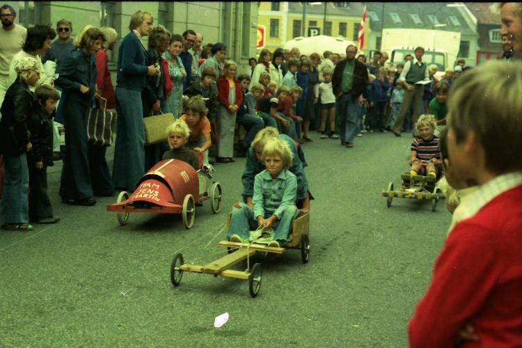 Helsingørsgade, sæbekasseløb, 1976