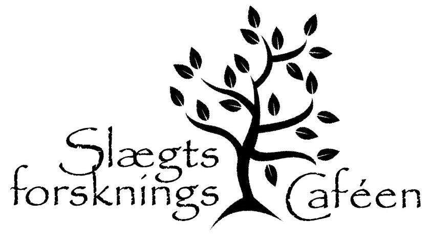"""Logo med træ og teksten """"Slægtsforskningscaféen""""."""