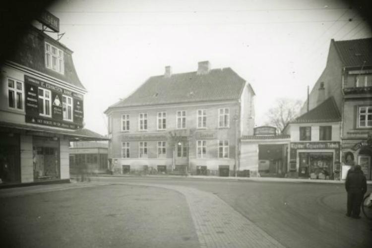 Tobaksforretning Slotsgade cirka 1930