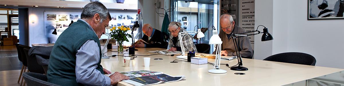 Avislæsesalen på Hillerød Bibliotek