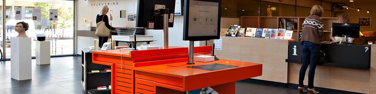 Udlån- og afleveringsautomater på Hillerød Bibliotek