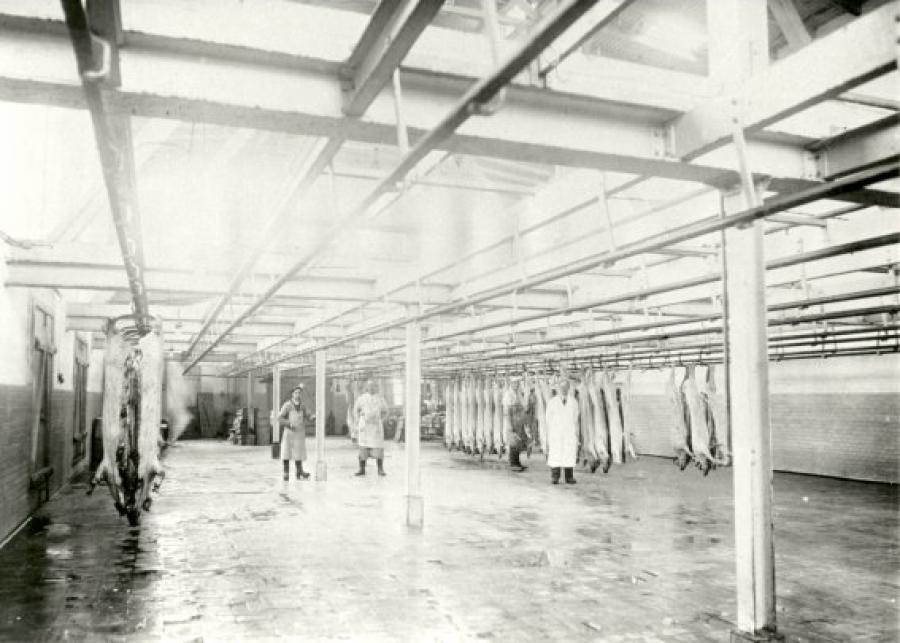 Hillerød Andelsslagteri, slagterihallen
