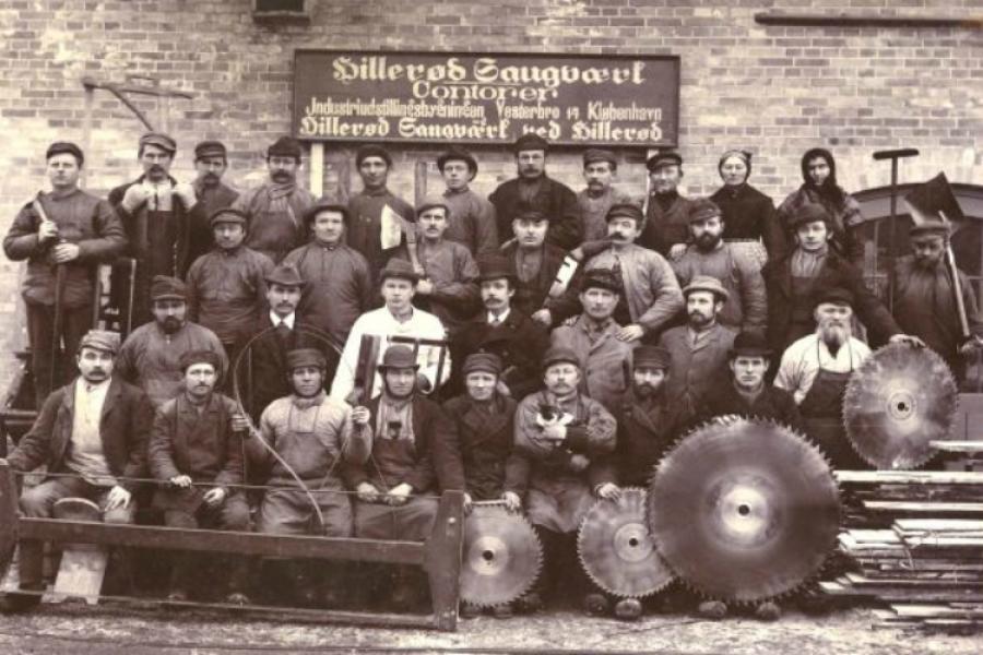 Hillerød Savværks medarbejdere omkring 1900
