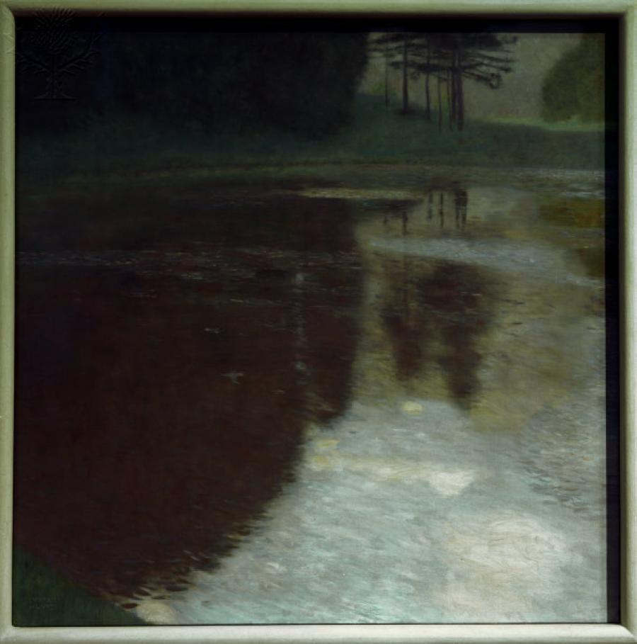Gustav Klimt maleri: Morning by the Pond