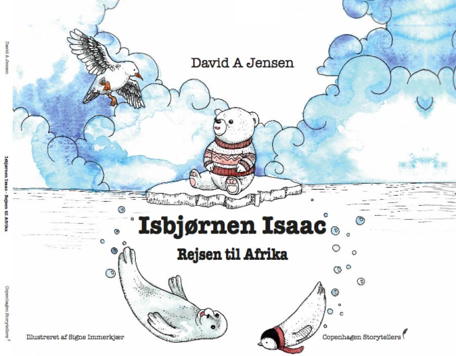 Bogforside: Isbjørnen Isaac - Rejsen til Afrika