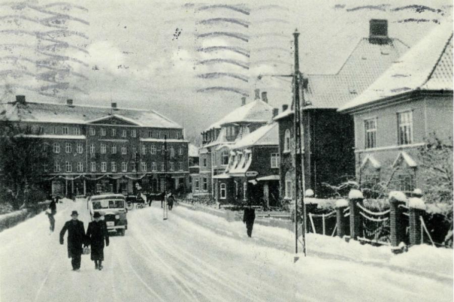 Søndre Jernbanevej med sne julen 1939