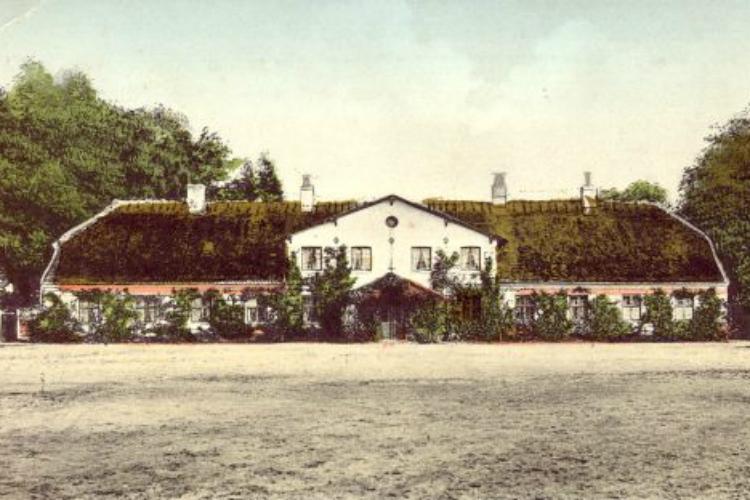 Koloreret postkort, Trollesminde, Roskildevej 48, 1910